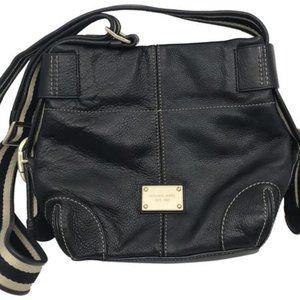 Michael Kors Black Medium Leather CrossBody Bag